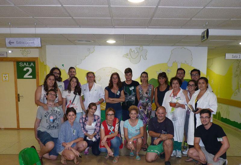 Primer grupo de voluntarios