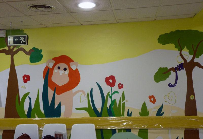 Mural del león
