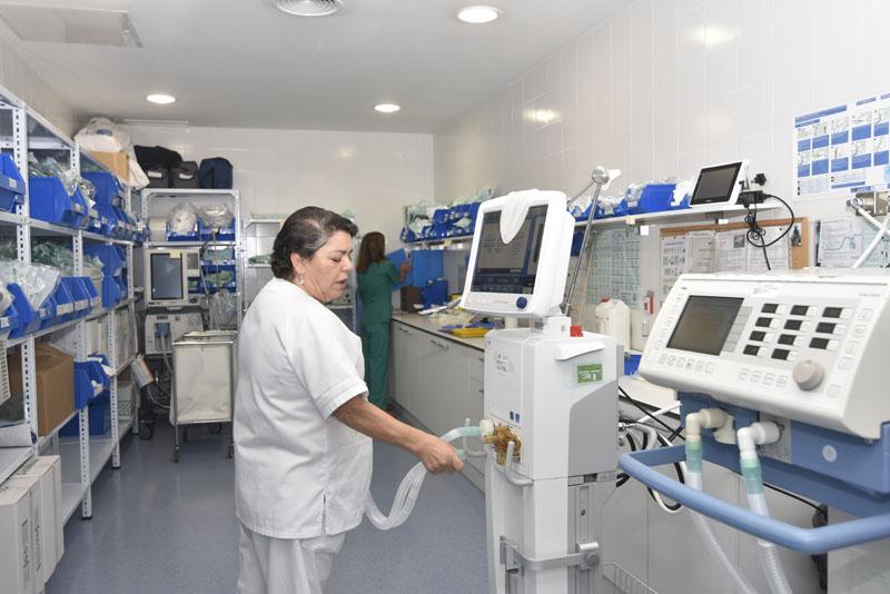 Sala de preparación de material Respiratorio