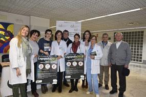 La directora gerente, la directora de enfermería, profeisonales del hospital, el Colegio de Logopedas de Andalucía y pacientes celebran el Día Europeo