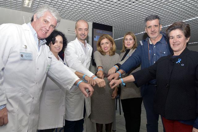 La delegada de Salud y Familias, profesionales del hospital y ADICOR en el Día Mundial de la Diabetes