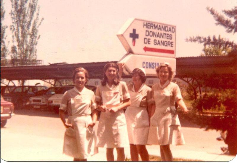 Enfermeras empezando. 1976