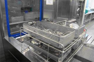 Tren lavado mediano. Salida instsrumental lavado/desinfectado