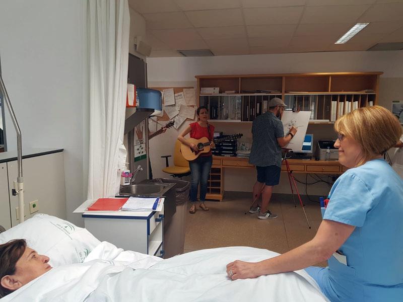 Uno de los momentos con los pacientes en diálisis