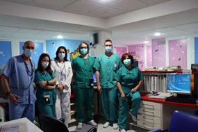 Profesionales de la Unidad de Oncohematología Pediátrica