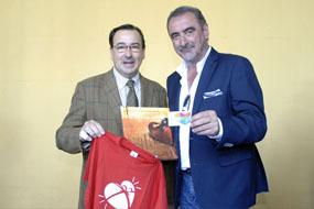 Juan Carlos Robles y Carlos Herrera, que ha apoyado la donación de órganos