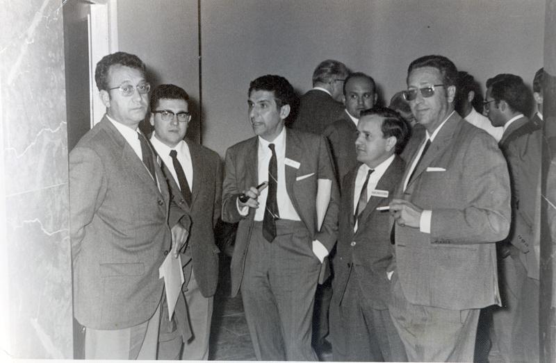 Los pediatras Domingo García, Felipe Toledo y Joaquín Tejero. 1974