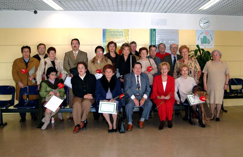 Los profesionales que se jubilaron este año. 2003