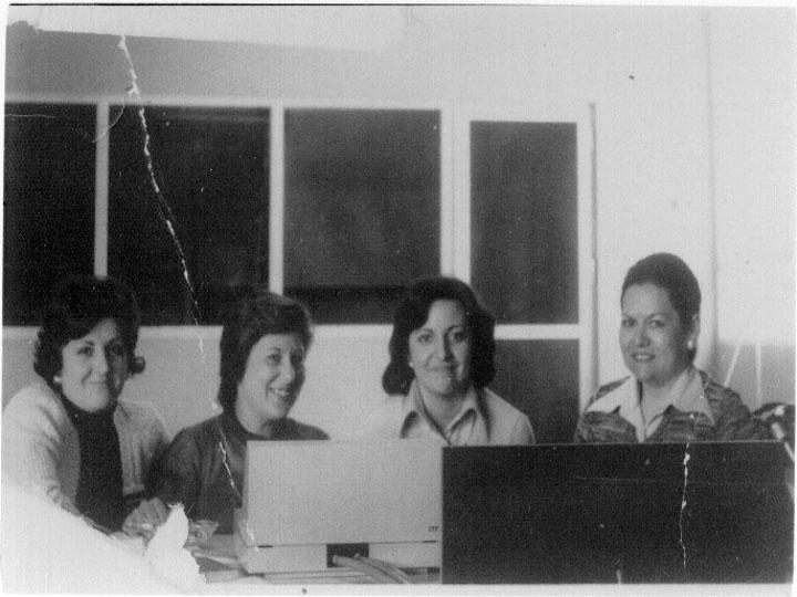 Los rostros de la centralita del hospital. 1978