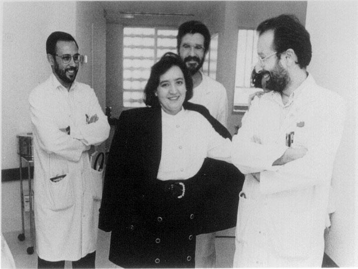 Paciente que recibió el primer trasplante pulmonar practicado en Andalucía. 1993