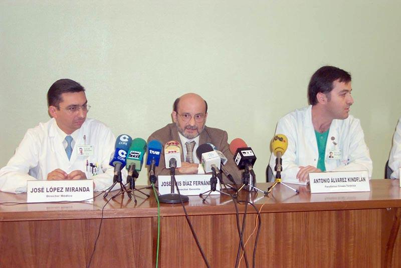 Presentación en sociedad de un trasplante pulmonar.
