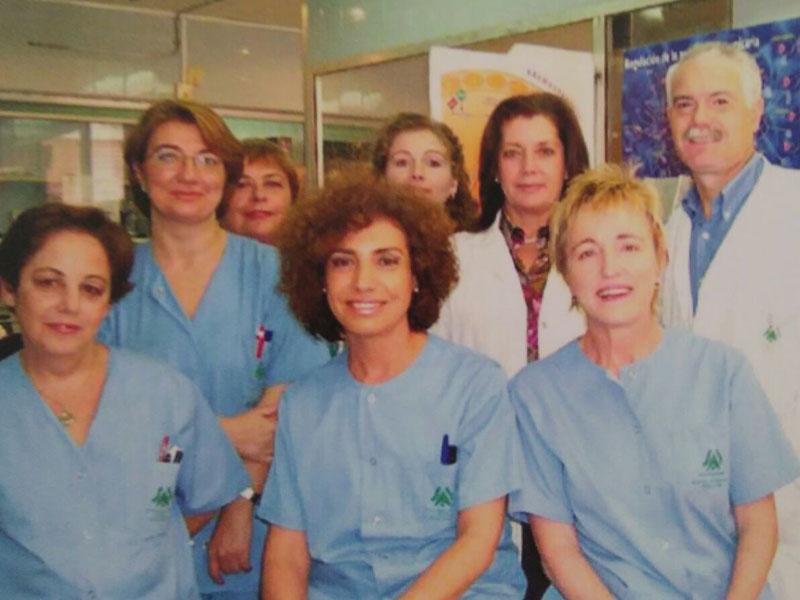Profesionales del servicio de Hematología.