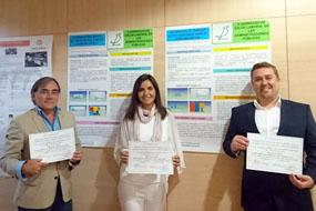 En la imagen, Rafael Sánchez, José Manuel Acosta y Sonia Repullo,  los autores del trabajo que estudia los accidentes de trabajo y los biológicos registrados en el hospital durante un año