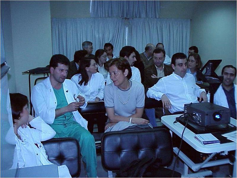 Sesión clínica de radiología.