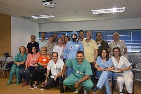 Profesionales participan en el simulacro de emergencias biologicas, tecnologicas o quimicas