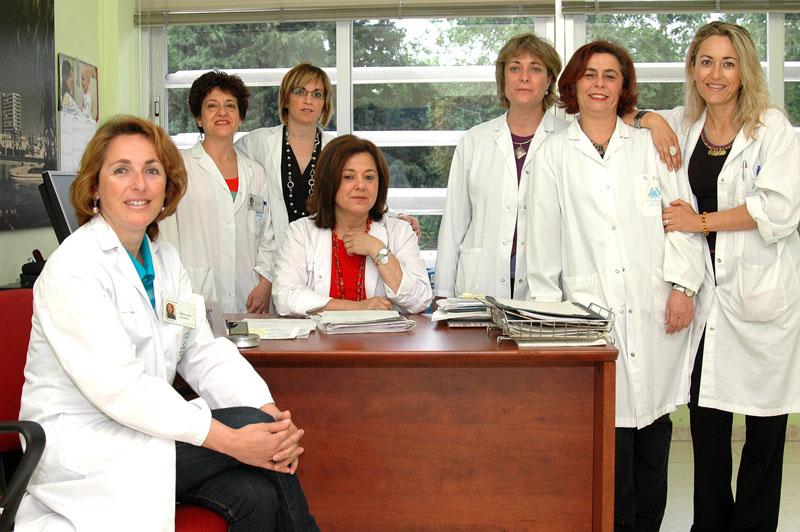 Trabajadoras sociales del hospital. 2016