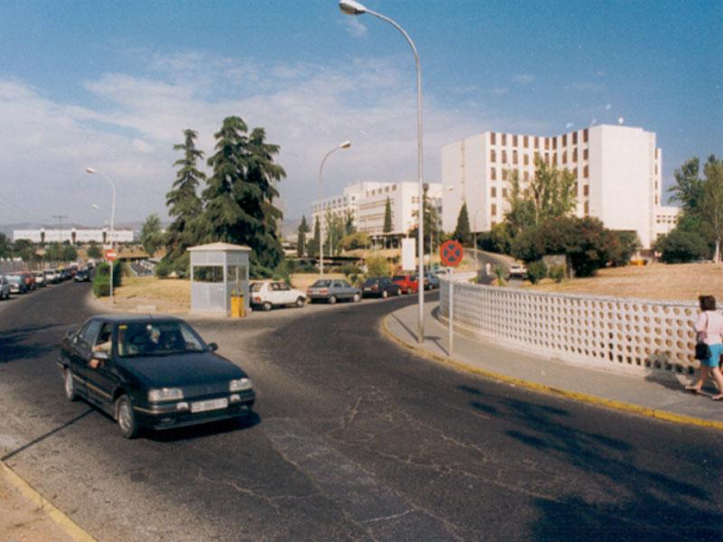 Vista del recinto hospitalario a mediados de la década de los 90. 1995