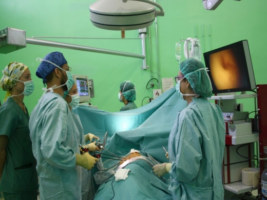 Cirujanos pediátricos del Hospital Materno Infantil de Málaga