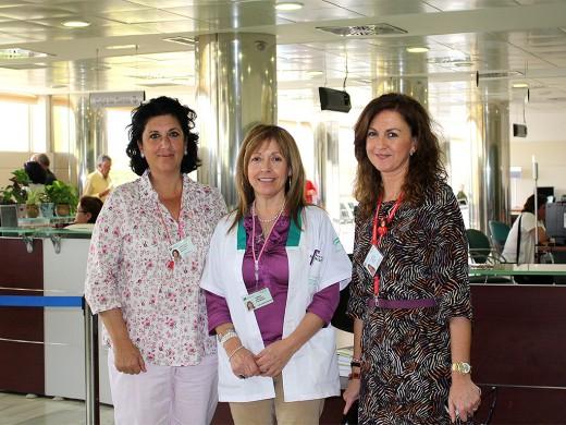 Concha de la Rubia, Carmen Hinojosa y Maribel González Florido