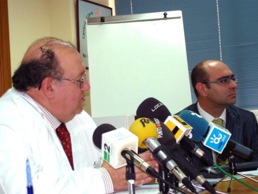 El Director Gerente, Antonio Pérez Rielo junto con el responsable de Sistemas