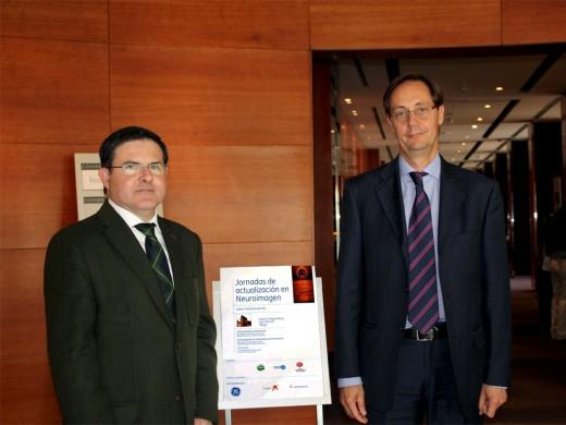 José Manuel Jiménez Hoyuela y Víctor Campos durante la celebración del I Curso