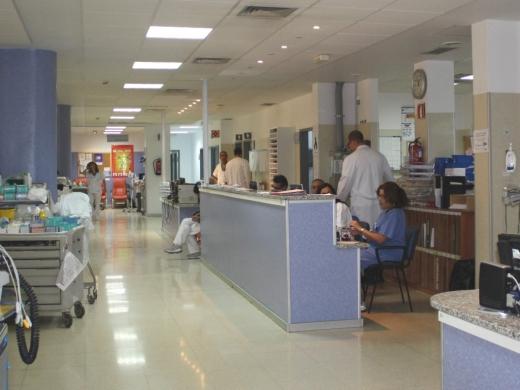 Imagen del Área de Observación del servicio de Urgencias del hospital