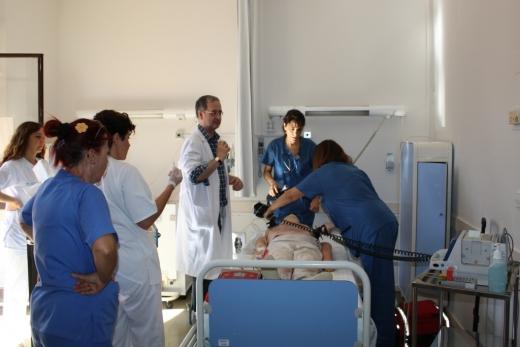 Aula de simulación del centro sanitario