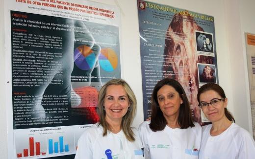 Enfermeras de la Unidad de Cirugía del Hospital Regional de Málaga
