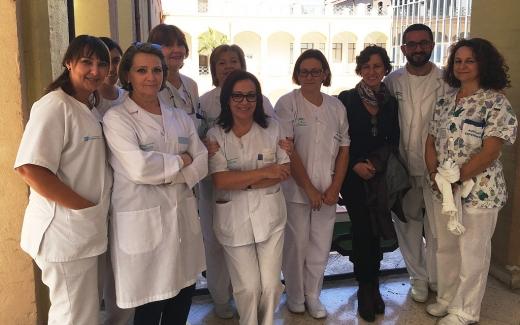 Profesionales de enfermería de Urología del Hospital Regional