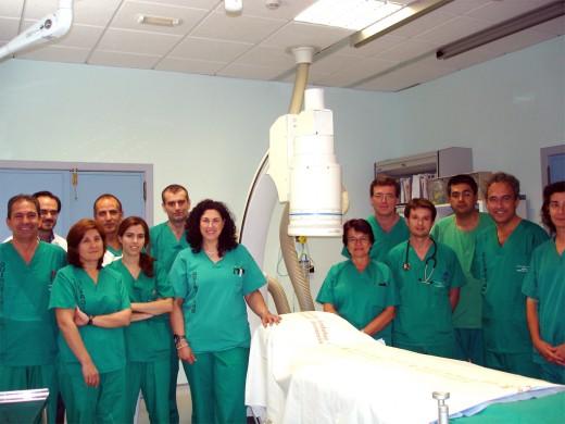El equipo de Profesionales que integra la unidad de Hemodinámica