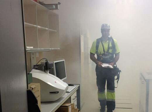 Simulacros de incendio y evacuación en los hospitales públicos de Málaga