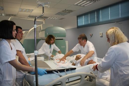Equipo de la unidad de Medicina Nuclear del hospital Virgen de la Victoria