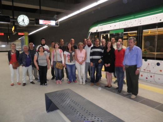 Pacientes de la Comunidad Terapéutica realizan una visita guiada al Metro