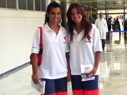 Voluntarias de la Cruz Roja de Málaga