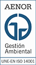 Acreditación de Calidad en Gestión Ambiental UNE-EN ISO 14001 expedida por AENOR