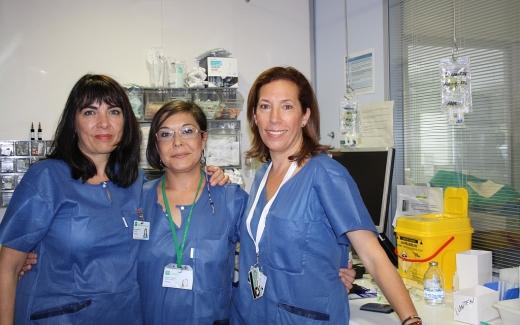 Enfermeras de la UCI Pediátrica del Materno Infantil