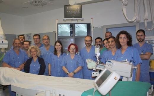 Profesionales del servicio de Hemodinámica de la UGC de Corazón
