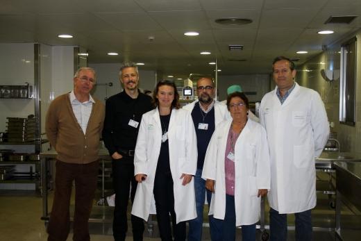 Profesionales de Restauración e Informática del Hospital Regional