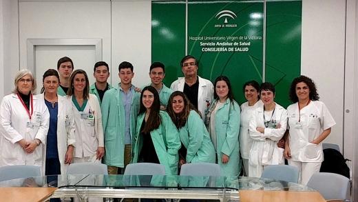 Estudiantes de Bachiller de Ciencias de la Salud de Málaga realizan una visita