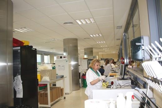 Recepción y procesamiento de muestras en el Laboratorio General del Hospital