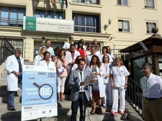 Lectura de un manifiesto, Semana Europea de Tumores de Cabeza y Cuello