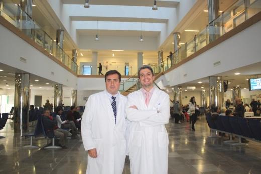 José Cruz y José Luis Guerrero, especialistas en Anestesiología del hospital Vir