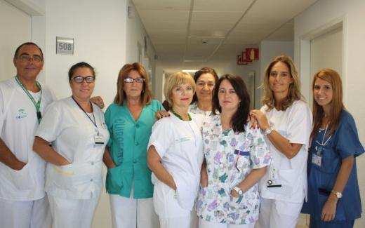 Personal de la quinta planta de Maternidad del Hospital Materno Infantil