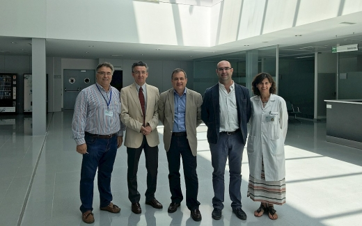 Visita de distintos gerentes al nuevo hospital Valle del Guadalhorce