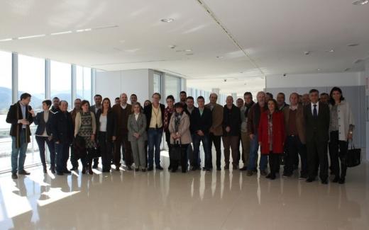 Alcaldes de la comarca de Guadalhorce y representantes de la Plataforma