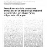 Accreditamento della competenza professionale: un'analisi degli interventi infermieristici per ridurre l'ansia nel paziente chirurgico