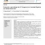Evaluación y aprendizaje del 27 Congreso de la Sociedad Española de Calidad Asistencial