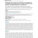 Fiabilidad inter-jueces en evaluaciones portafolio de competencias profesionales en salud: el modelo de la Agencia de Calidad Sanitaria de Andalucía