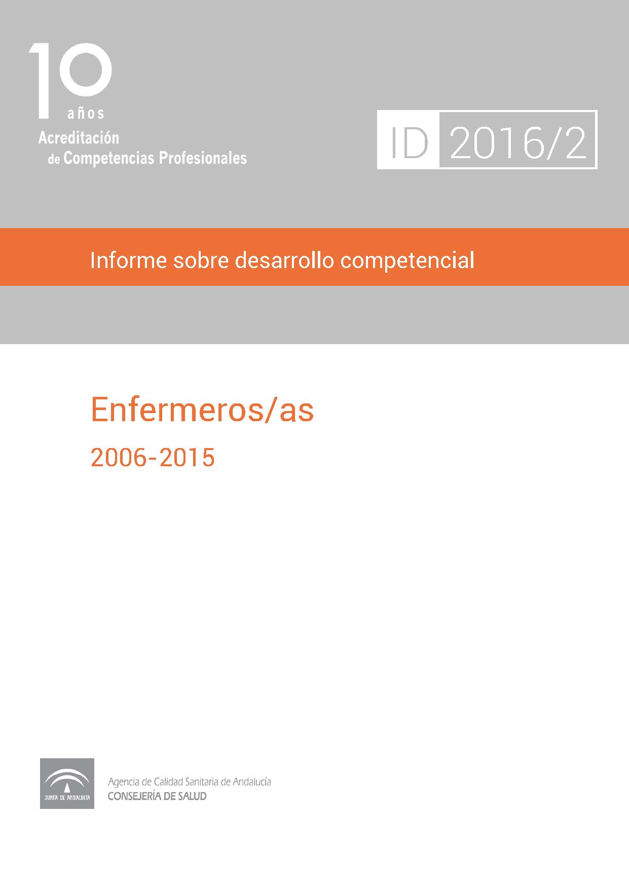 Informe sobre desarrollo competencial: Enfermeros/as