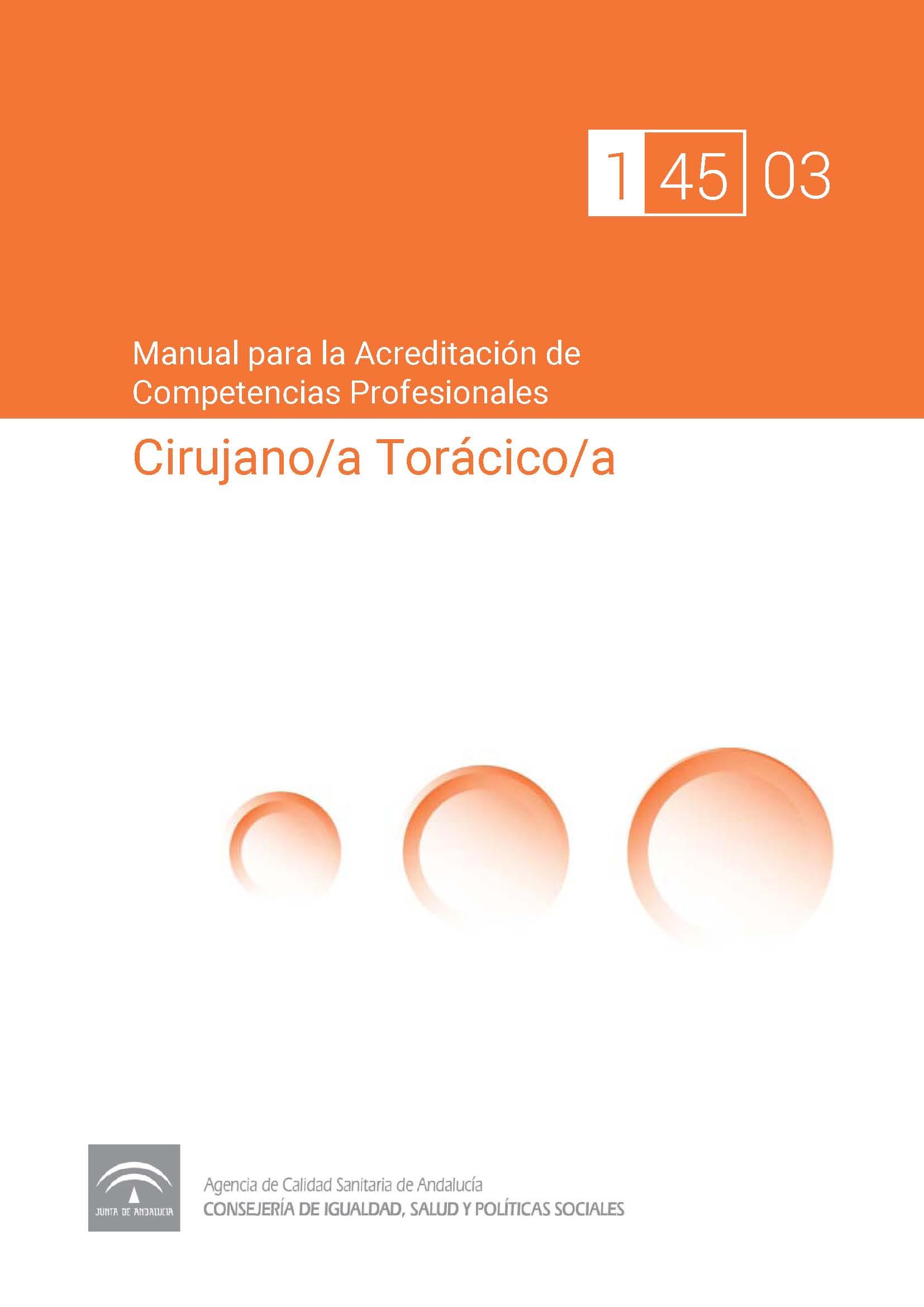 Manual de competencias profesionales del/de la Cirujano/a Torácico/a